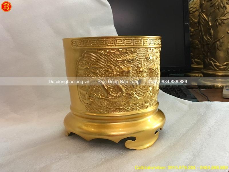 bát hương thờ dát vàng
