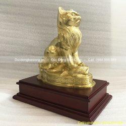 con mèo phong thuỷ bằng đồng