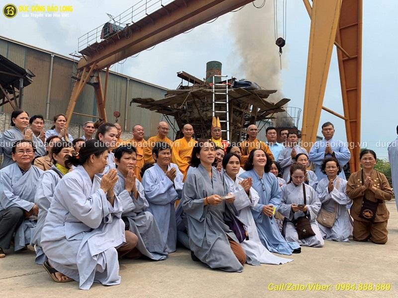 Đúc tượng Phật bằng đồng tại Bắc Kạn