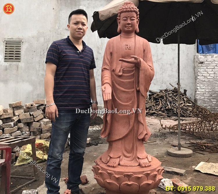 Đúc tượng Phật bằng đồng tại Ninh Bình, mẫu đúc tượng Phật A Di Đà