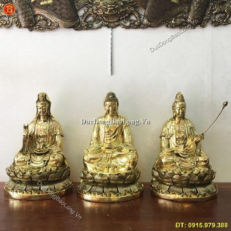 Đúc tượng Phật bằng đồng tại Ninh Bình, tượng Phật Tam Thánh