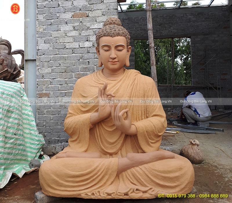Đúc tượng Phật bằng đồng tại Ninh Bình, mẫu đúc tượng Phật Thích Ca cao 2m1