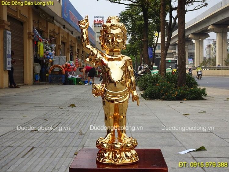 Đúc tượng Phật bằng đồng tại Ninh Bình, tượng Phật Thích Ca Đản Sinh