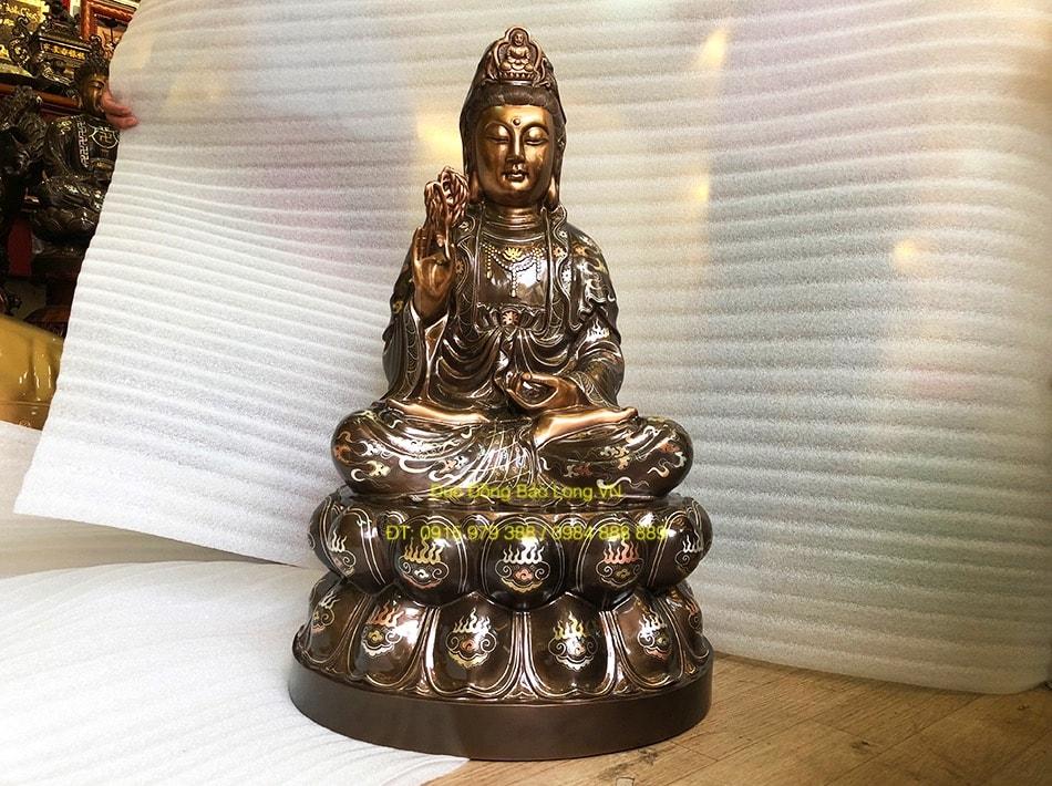 Đúc tượng Phật bằng đồng tại Vĩnh Long, tượng Quán Thế Âm
