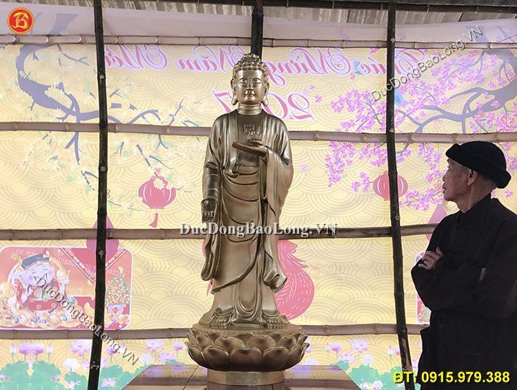 Đúc tượng Phật bằng đồng tại Vĩnh Long, tượng Phật A Di Đà