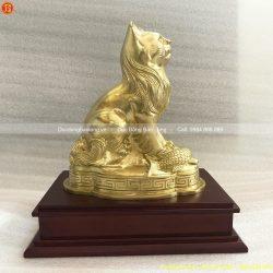 tượng con mèo bằng đồng