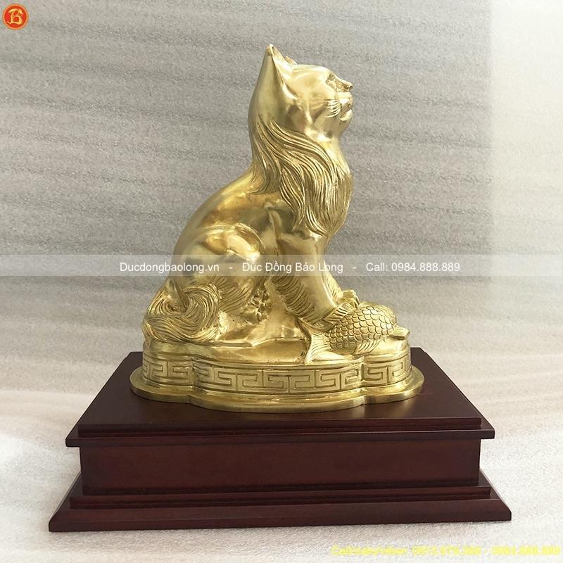Con Mèo Bằng Đồng cỡ nhỡ cao 19cm
