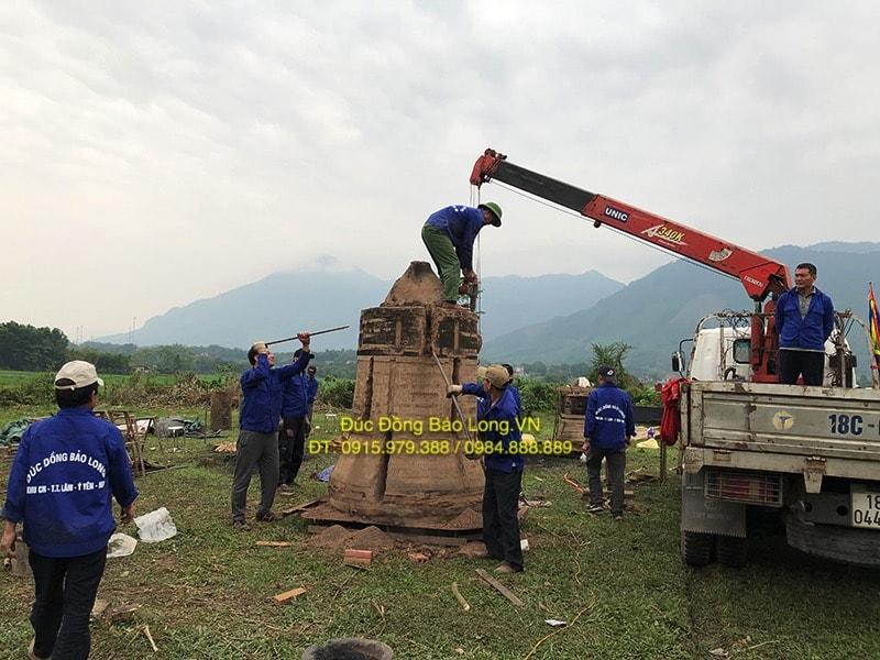 Đúc chuông đồng tại Kiên Giang