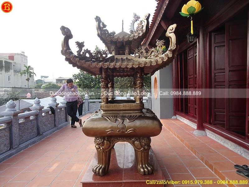 Lư Hương Đồng Mái Chùa cao 1m97