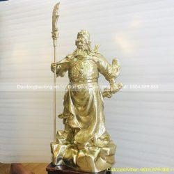 tượng đồng quan công 61cm