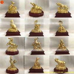 tượng mười hai con giáp bằng đồng