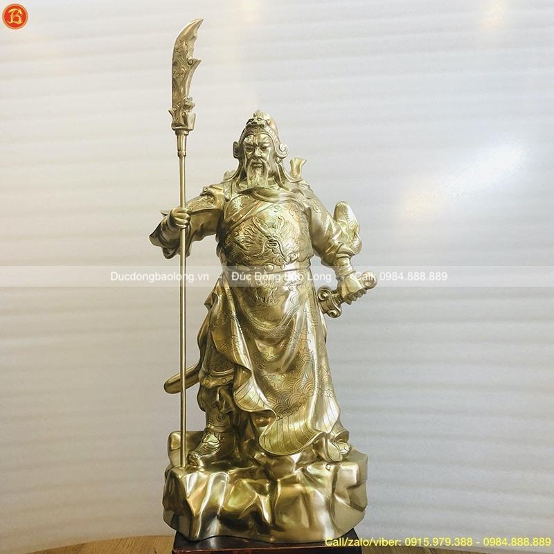 Tượng Quan Công đồng cát tút cao 61cm