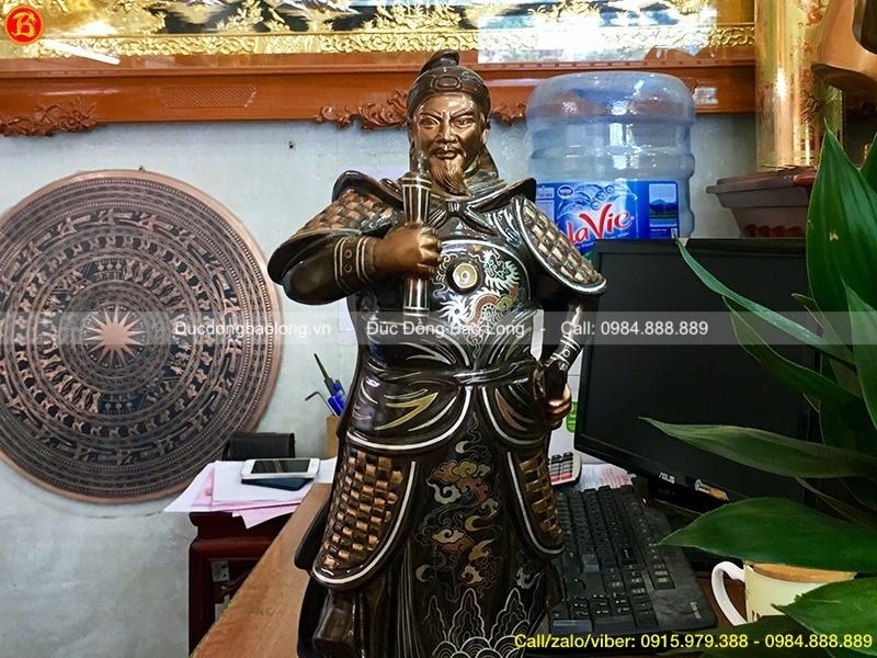 Tượng Trần Quốc Tuấn 48cm (mẫu mới)