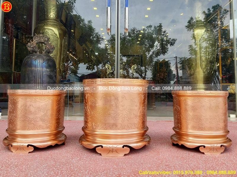 bộ bát hương thờ cúng bằng đồng