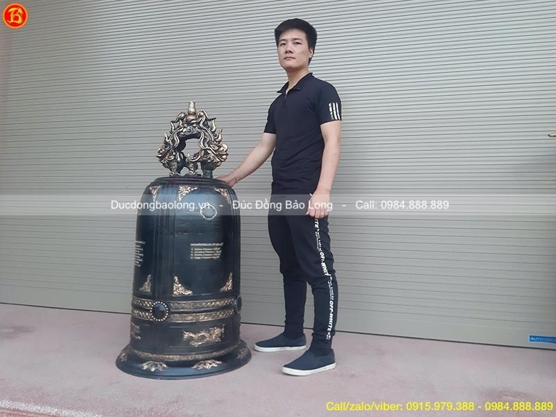 đúc chuông đồng nặng 200kg