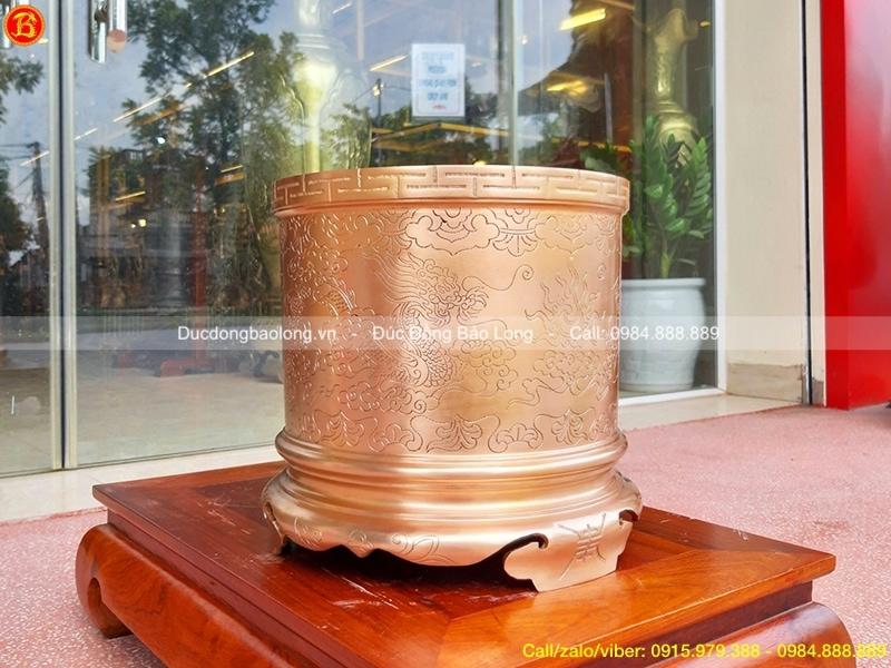 Bát Hương Đồng ám hoa văn thờ cúng