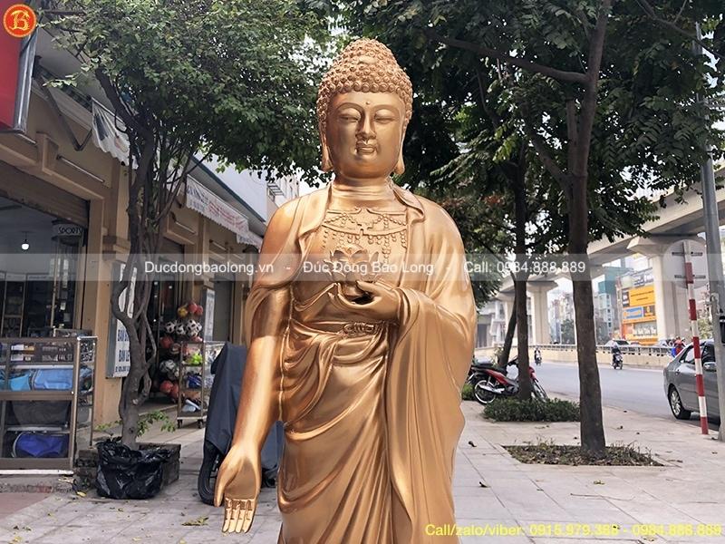 Tượng Phật A Di Đà bằng đồng cao 1m