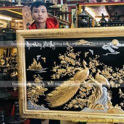 tranh ngọc đường phú quý mạ vàng dát bạc