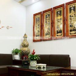 Giá Tranh Đồng Tứ Quý Xuân Hạ Thu Đông Treo Phòng Khách