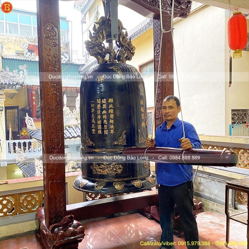Đúc Chuông Đồng 1 tấn Chùa Am Hà Nội