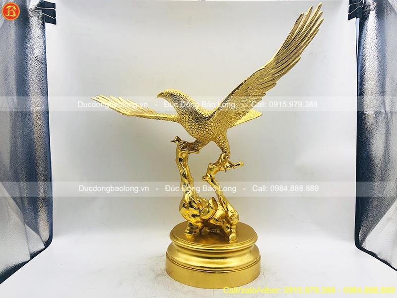 Tượng Đại Bàng dát vàng 9999 cao 55cm
