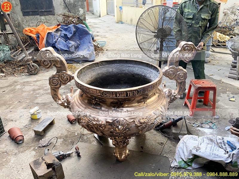 lư hương đồng chùa kim tiên