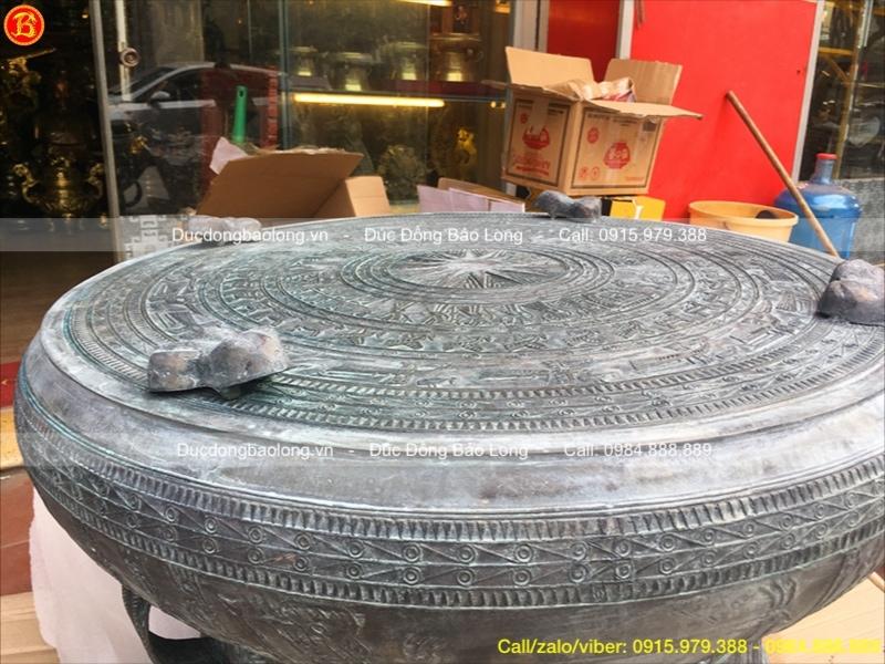 Quả Trống Đồng 80cm mẫu Đông Sơn giả cổ