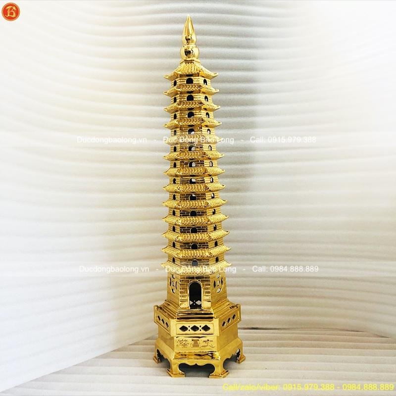 Tháp Văn Xương 13 tầng mạ vàng 24k
