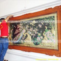 tranh ngọc đường phú quý khung gỗ