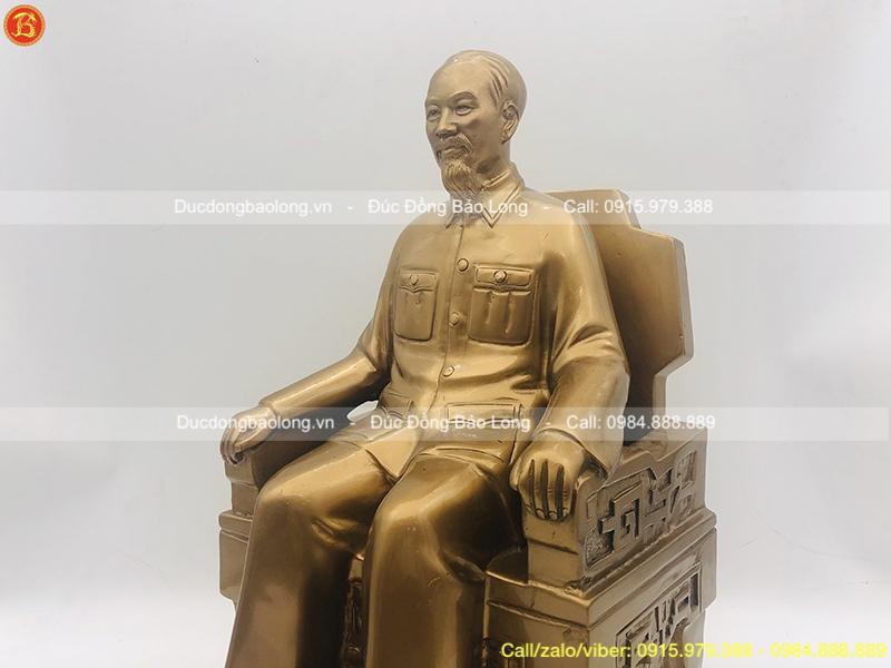 tượng bác hồ ngồi ghế đẹp