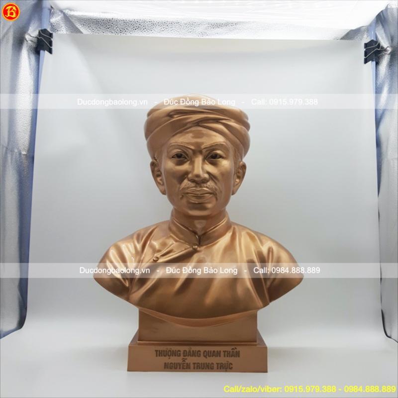 Đúc tượng anh hùng Nguyễn Trung Trực cao 48cm