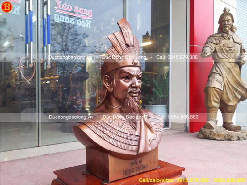 Đúc tượng Vua Hùng Bằng Đồng cao 81cm