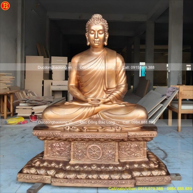 Tượng Phật Thích Ca 1m4 đúc đồng đỏ