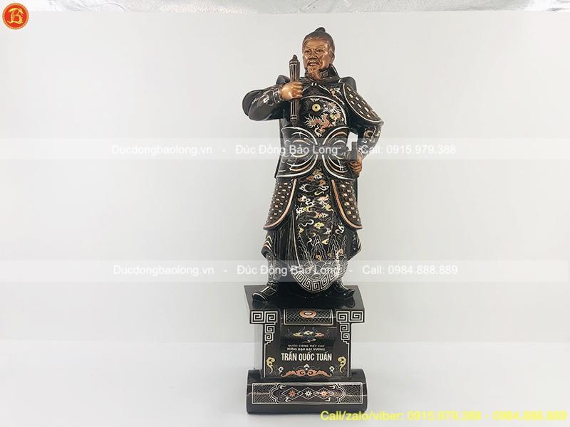 tượng trần hưng đạo cao 90cm