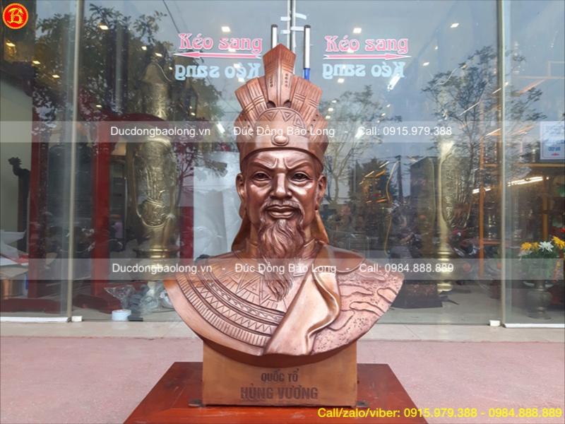 tượng vua hùng 81cm