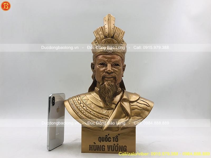 bán tượng vua hùng bằng đồng