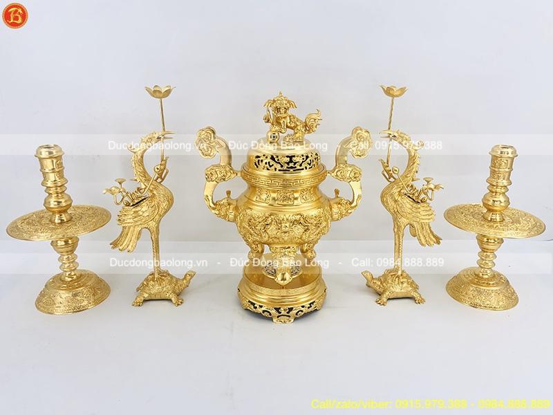bộ ngũ sự dát vàng 60cm