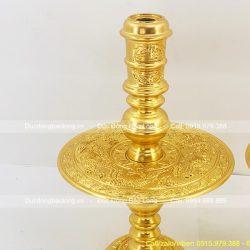 chân nến bằng đồng dát vàng