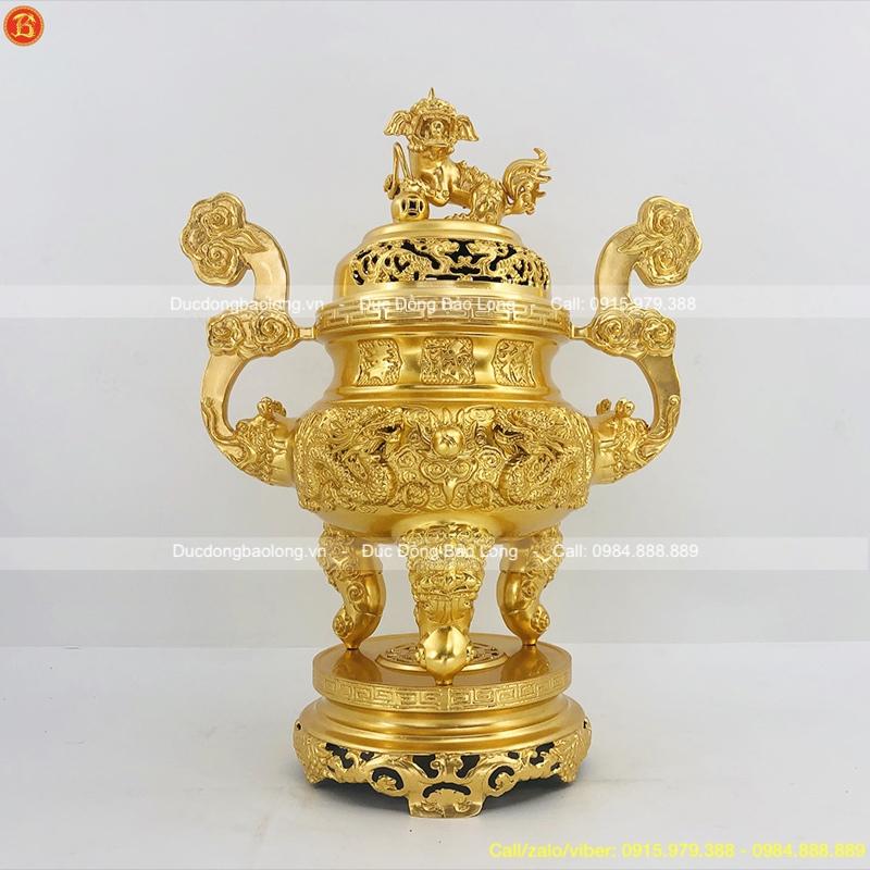 Đỉnh Thờ Dát Vàng 9999 thờ cúng cao 60cm