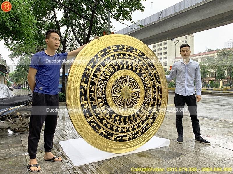 Mặt Trống Đồng 1m8 mạ vàng 24k