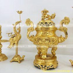 ngũ sự đỉnh rồng nổi dát vàng