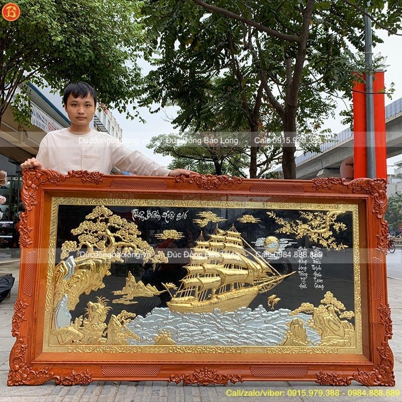 Tranh Thuận Buồm Xuôi Gió khung Hương dài 2m01