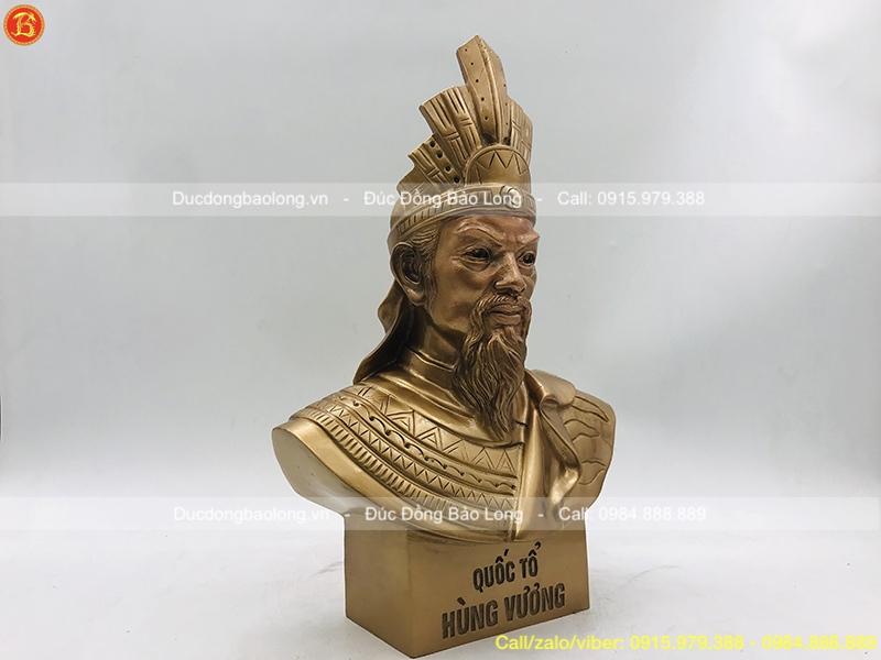 Tượng Vua Hùng Vương đồng đỏ cao 36cm