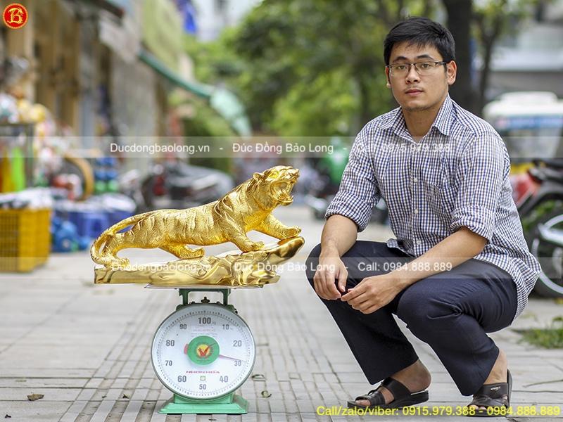 Tượng Hổ Dát Vàng 9999 dài 61cm