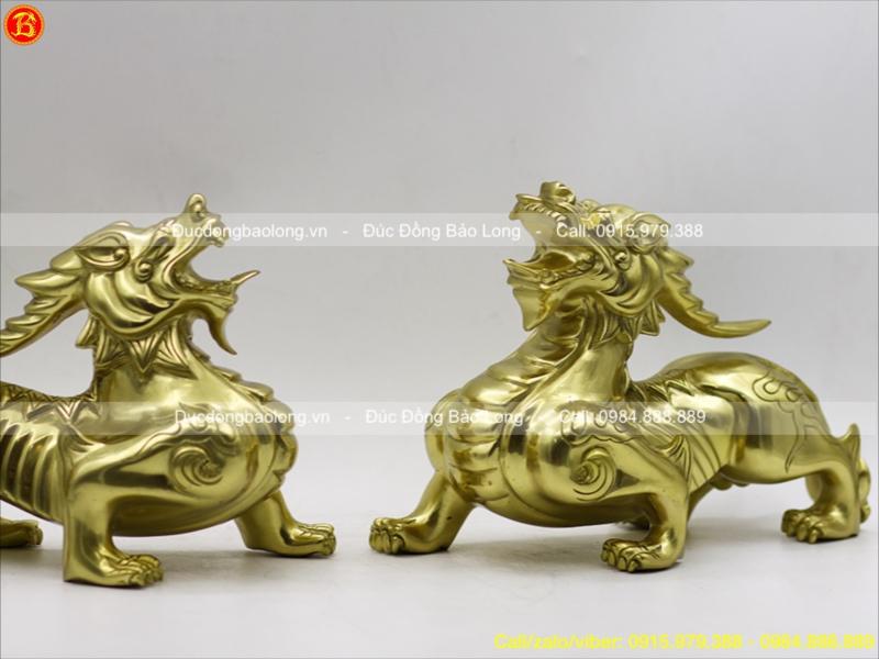 Tỳ Hưu Phong Thuỷ bằng đồng dài 28cm
