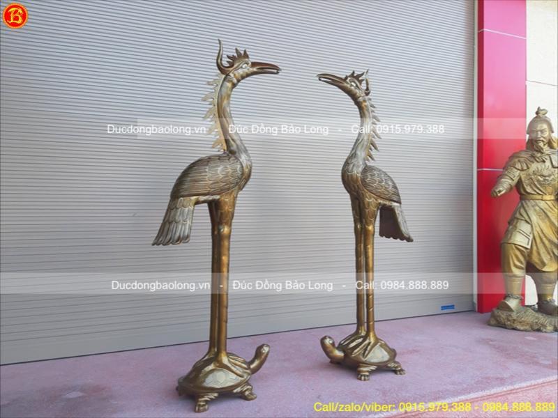 Hạc Đồng Đỏ 1m76 thờ cúng Đền Chùa
