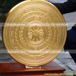 giá mặt trống đồng dát vàng 60cm