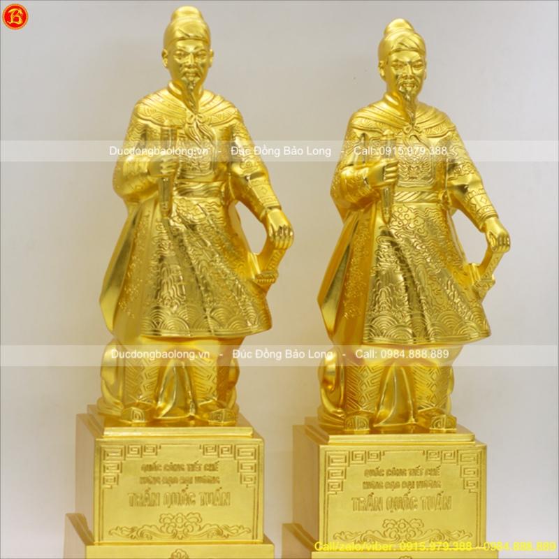 Tượng Trần Hưng Đạo Thếp Vàng cao 48cm
