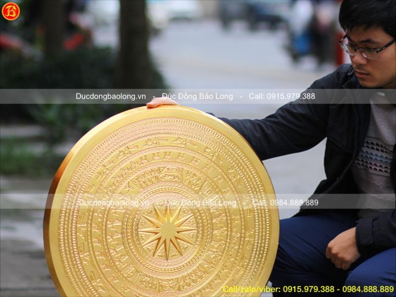 Mặt Trống Đồng Ngọc Lũ 60cm, dát vàng 9999