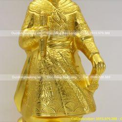 tượng đồng trần hưng đạo thếp vàng